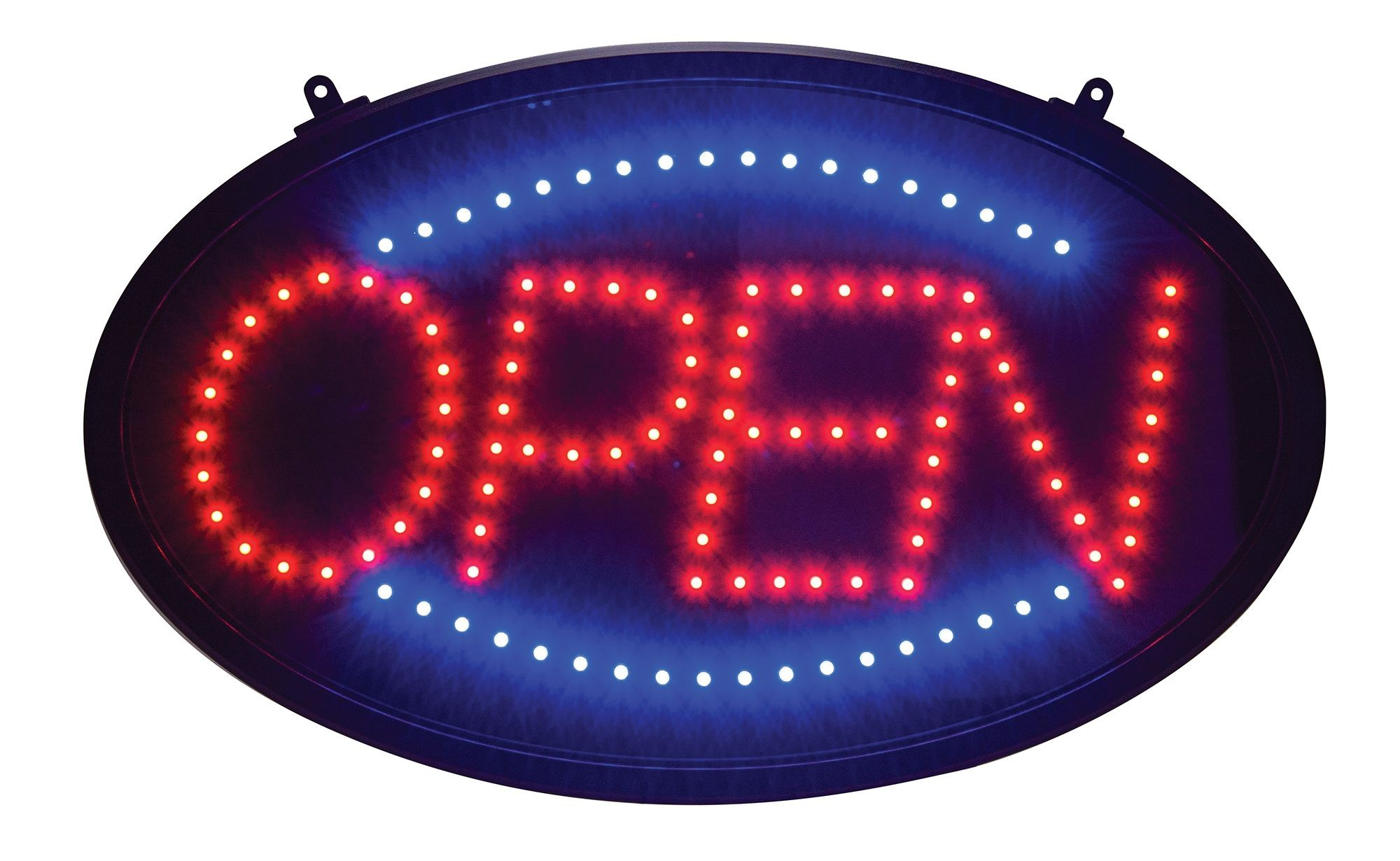 Open LED Neon Sign With Transparent Cover