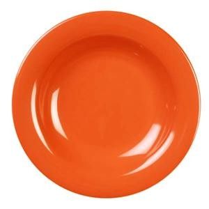 Thunder Group CR5809RD Orange Melamine 13 oz. Salad Bowl