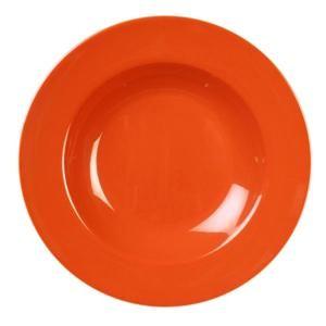 Thunder Group CR5811RD Orange Melamine 16 oz. Pasta Bowl