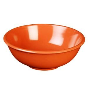 Thunder Group CR5807RD Orange Melamine 24 oz. Salad Bowl 7-1/2""