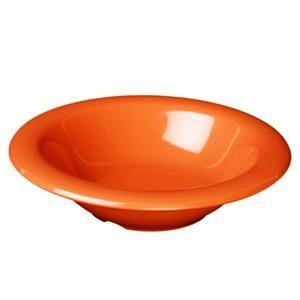 Thunder Group CR5044RD Orange Melamine 4 oz. Salad Bowl