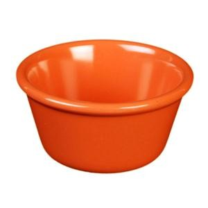Thunder Group ML538RD Orange Melamine 4 oz. Smooth Ramekin 3-3/8""