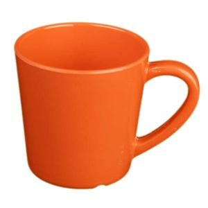 Thunder Group CR9018RD Orange Melamine 7 oz. Mug/Cup 3-1/8""