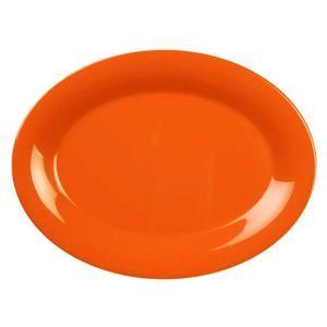 """Thunder Group CR212RD Orange Melamine Oval Platter, 12"""" x 9"""""""