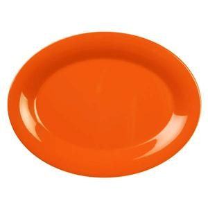 "Thunder Group CR213RD Orange Melamine Oval Platter, 13-1/2"" x 10-1/2"""