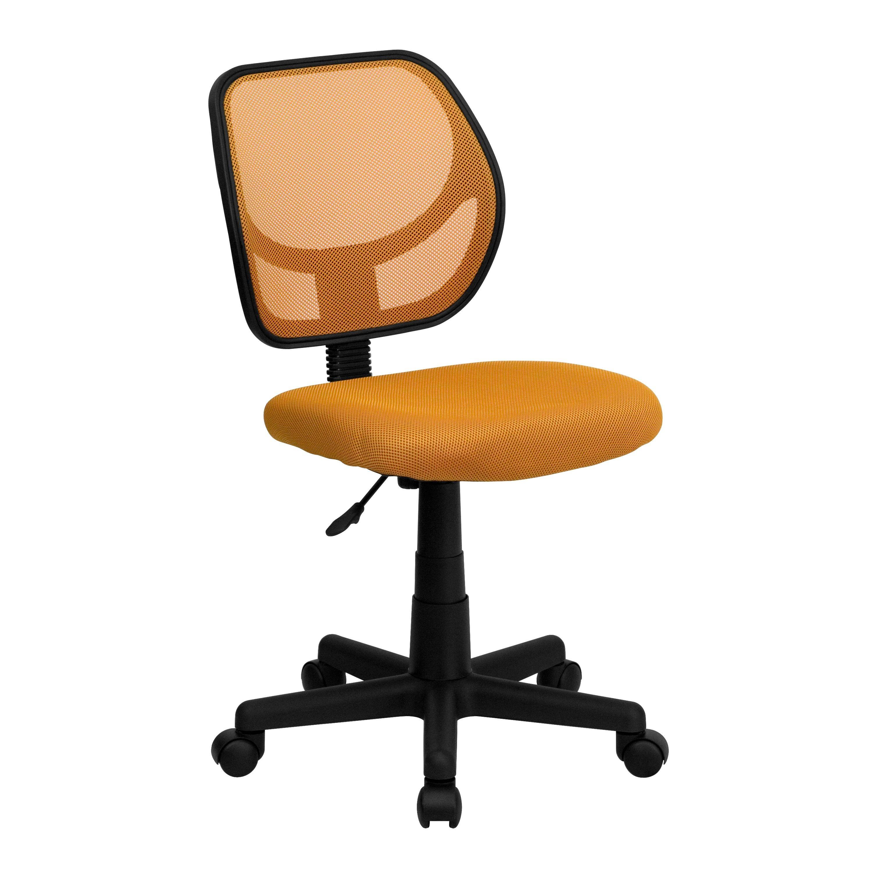 Orange Mesh Computer Chair