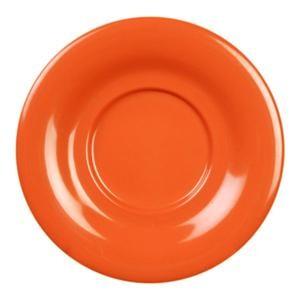 """Thunder Group CR9303RD Orange Melamine 5-1/2"""" Saucer for CR303 and CR9018"""