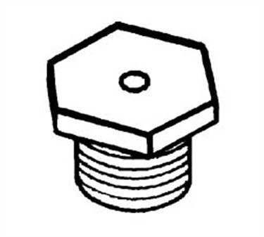Franklin Machine Products  158-1129 Orifice, Hex Plug (Blank, 1/8Npt )