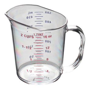 Thunder Group PLMC016CL Polycarbonate Measuring Cup 1 Pint