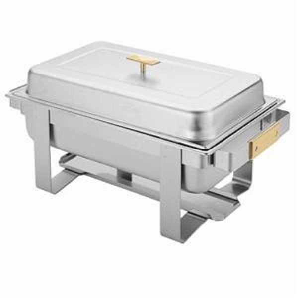 Thunder Group SLRCF0161G Gold Accented Integrated Full Size Chafer