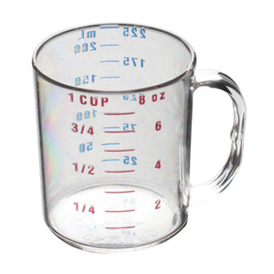 Thunder Group PLMC008CL Polycarbonate Measuring Cup 1 Cup
