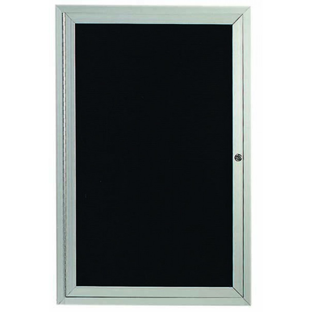 "Aarco Products OADC2418 1 Door Outdoor Enclosed Directory Board with Aluminum Frame, 24""H x 18""W"