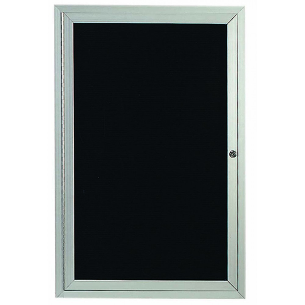 Outdoor Enclosed Aluminum 2-Door Directory Cabinet - 48