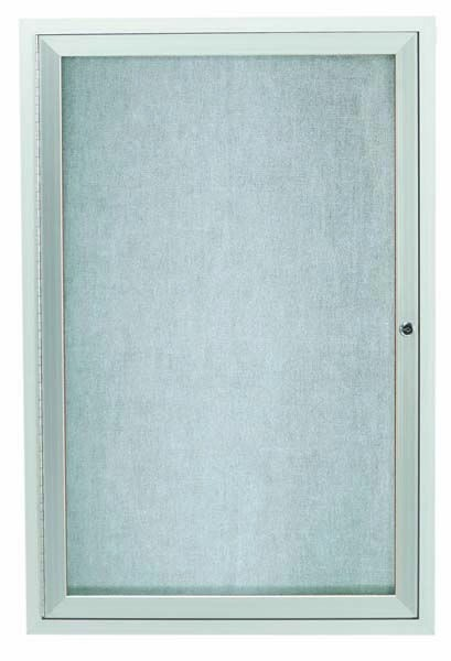 Outdoor Enclosed Aluminum Illuminated Indoor 1-Door Bulletin Board Cabinet - 24