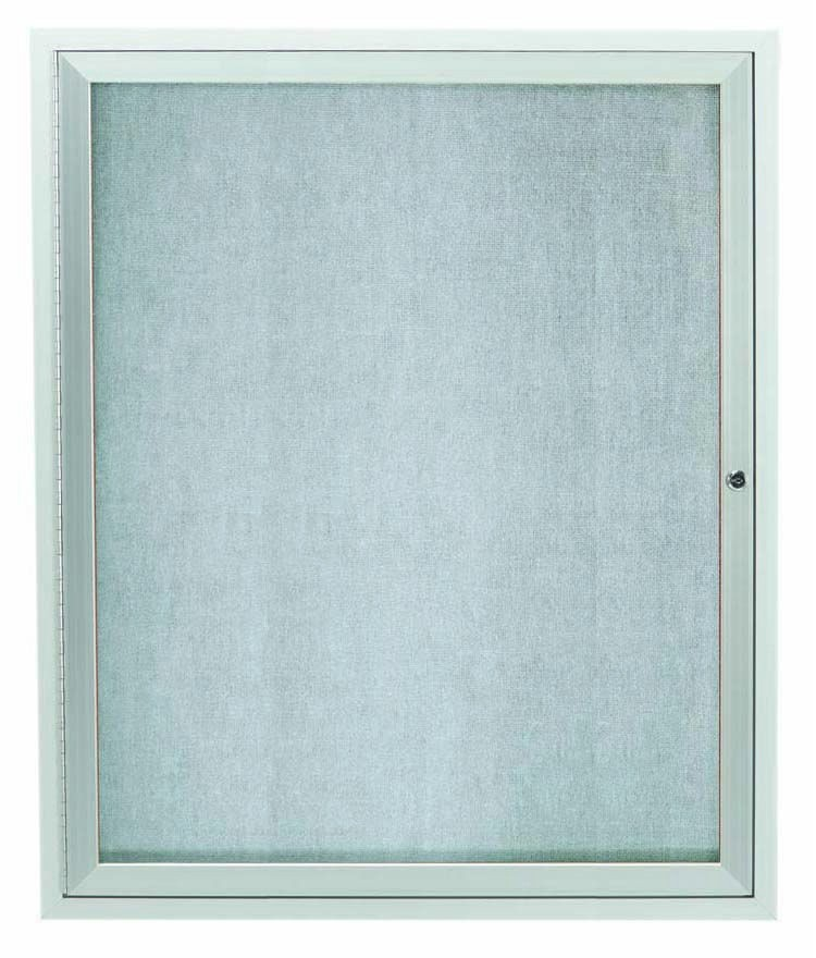 "Aarco Products ODCC3630RI Outdoor Enclosed Aluminum Illuminated 1-Door Bulletin Board Cabinet, 36""H x 30""W"