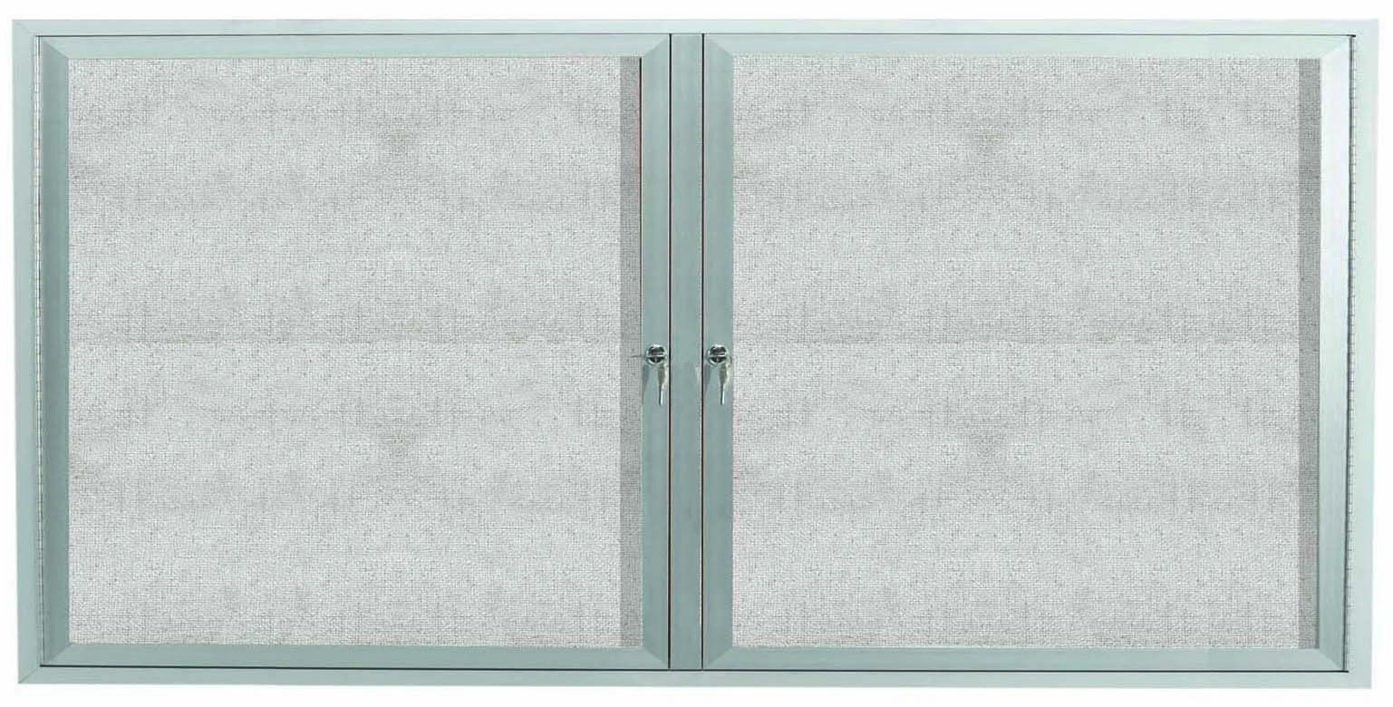 Outdoor Enclosed Aluminum Illuminated Indoor Bulletin Board Cabinet - 36