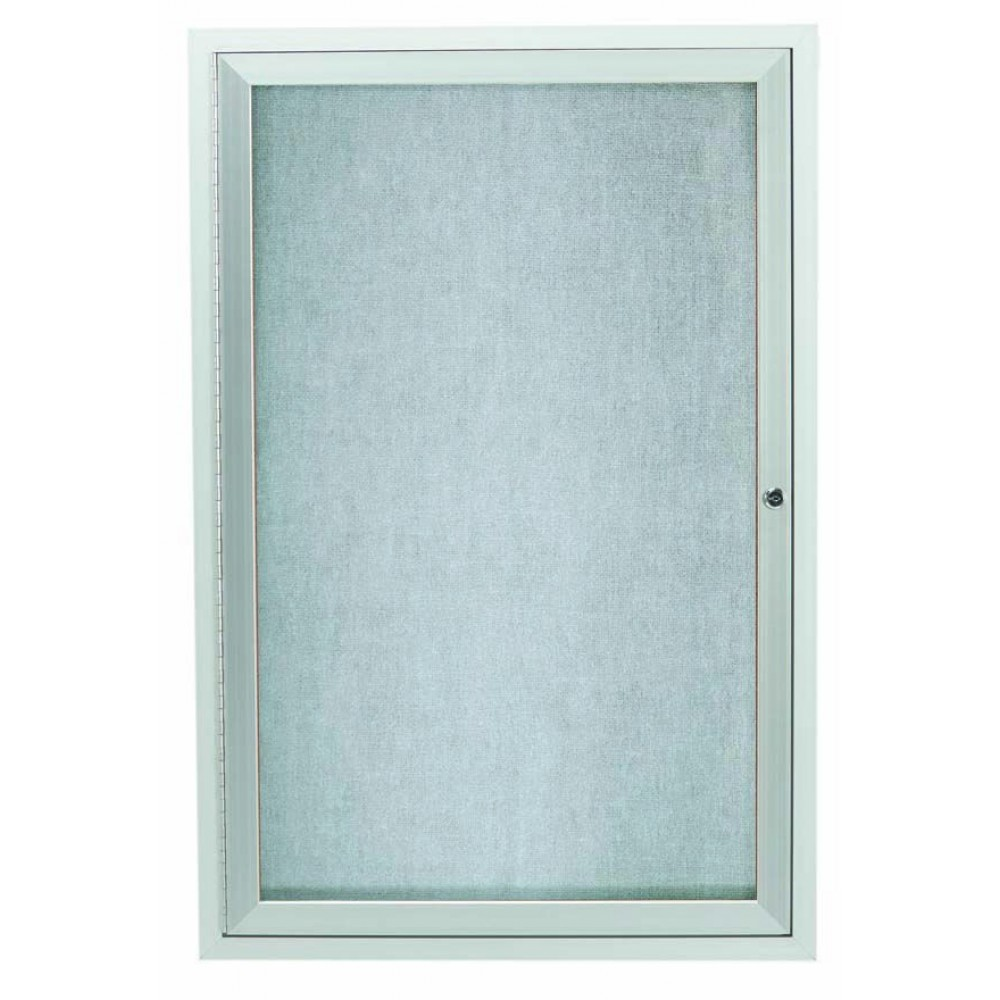 "Aarco Products ODCC3624RI Outdoor Enclosed Aluminum Illuminated 1-Door Bulletin Board Cabinet, 36""H x 24""W"