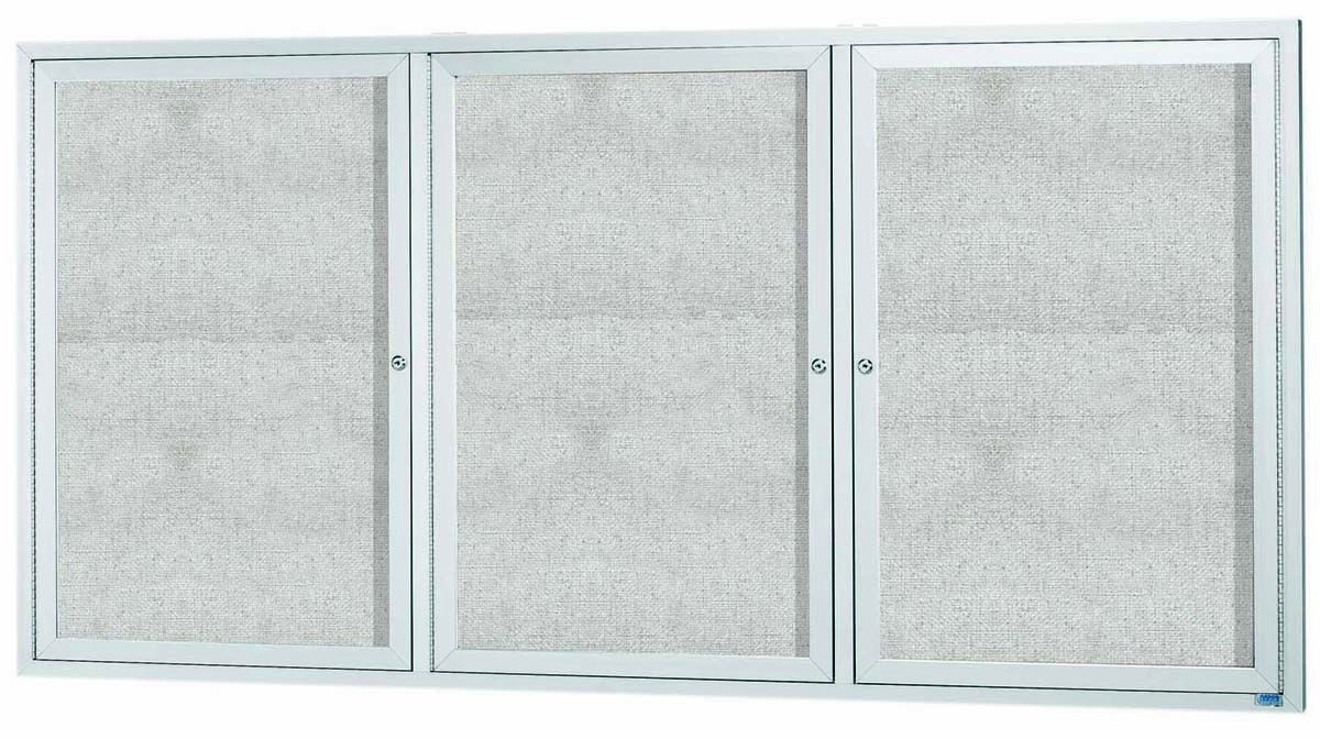 Outdoor Enclosed Aluminum Indoor Bulletin Board Cabinet -36