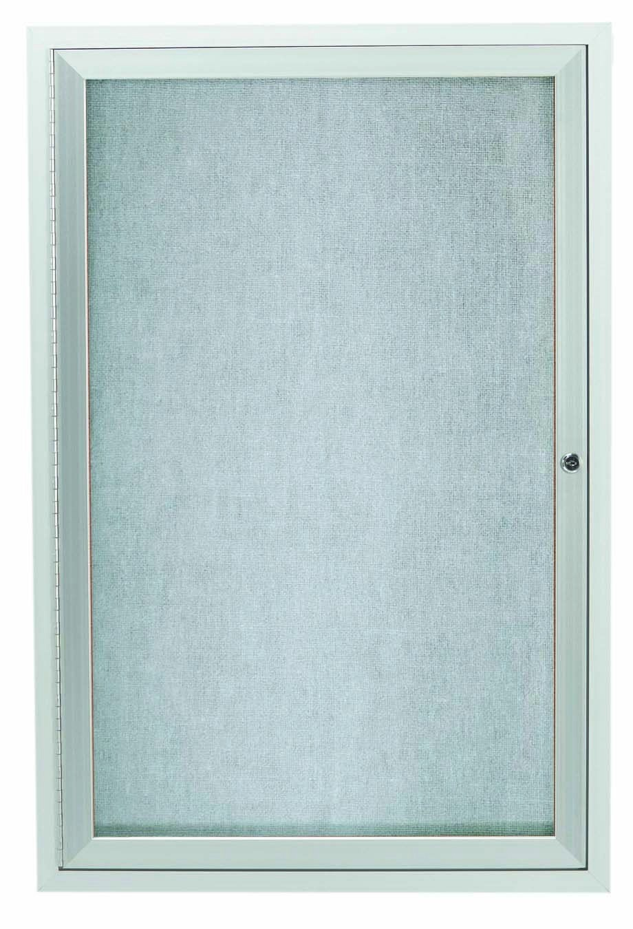 Outdoor Enclosed Aluminum Indoor 1-Door Bulletin Board Cabinet - 48