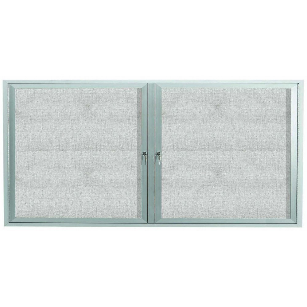 Outdoor Enclosed Aluminum Indoor 2-Door Bulletin Board Cabinet - 36