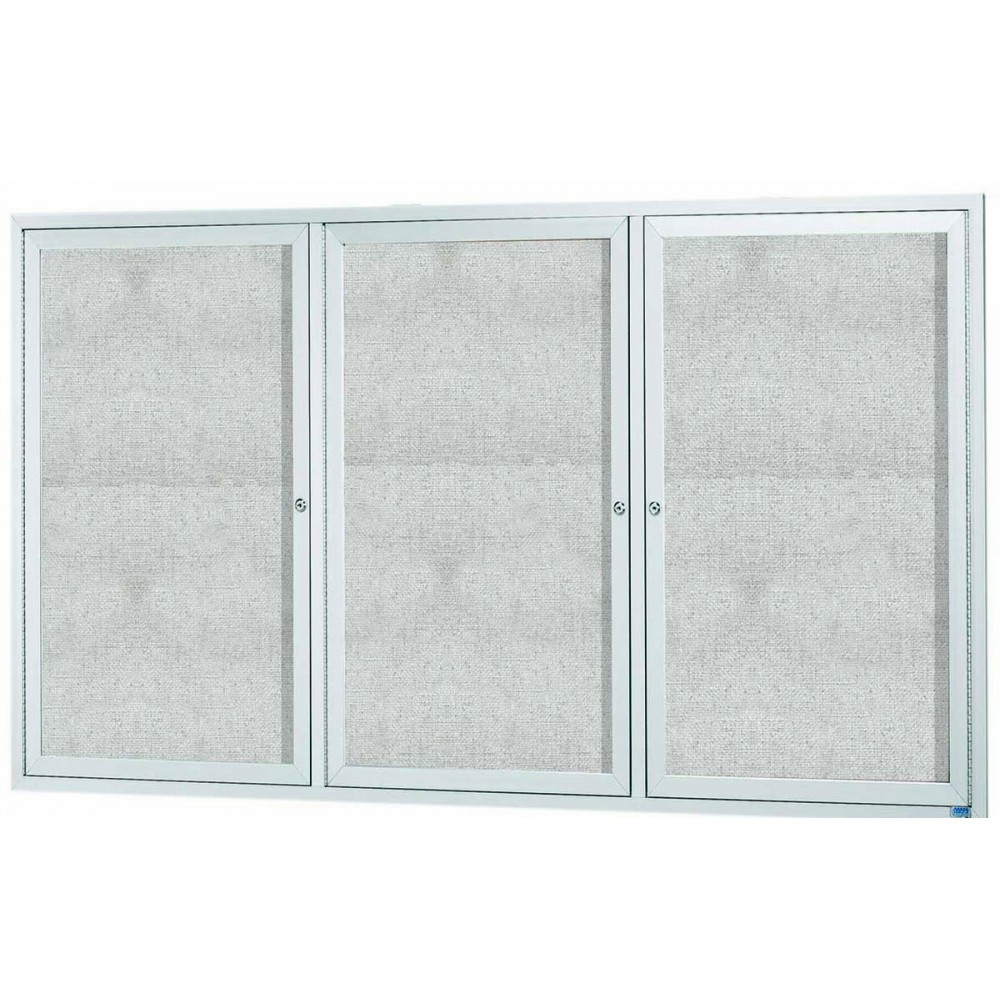 Outdoor Enclosed Aluminum Indoor Bulletin Board Cabinet - 48