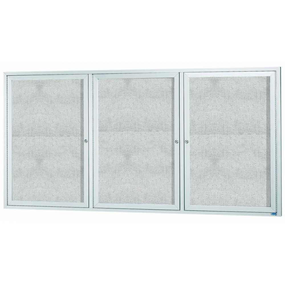 "Aarco Products ODCC4896-3R Outdoor Enclosed Aluminum Bulletin Board Cabinet, 48""H x 96""W"