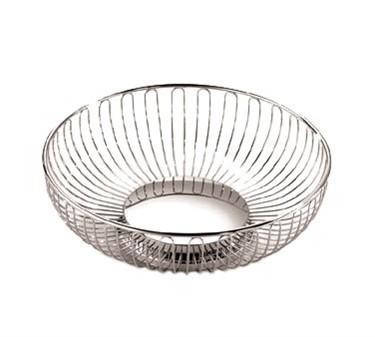 """TableCraft 4174 Oval Chrome Basket 9"""" x 6"""" x 2-5/8"""""""