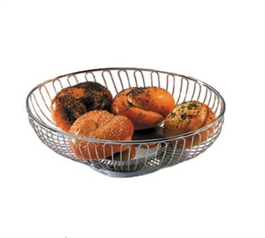 Oval Chrome-Plated Wire Basket - 10-3/4
