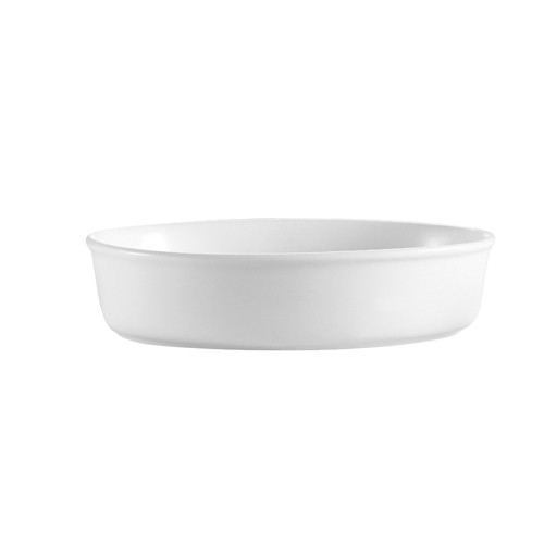 "CAC China ODP-10 White Oval 80 oz. Deep Platter 13"" x 9"" x 2"""