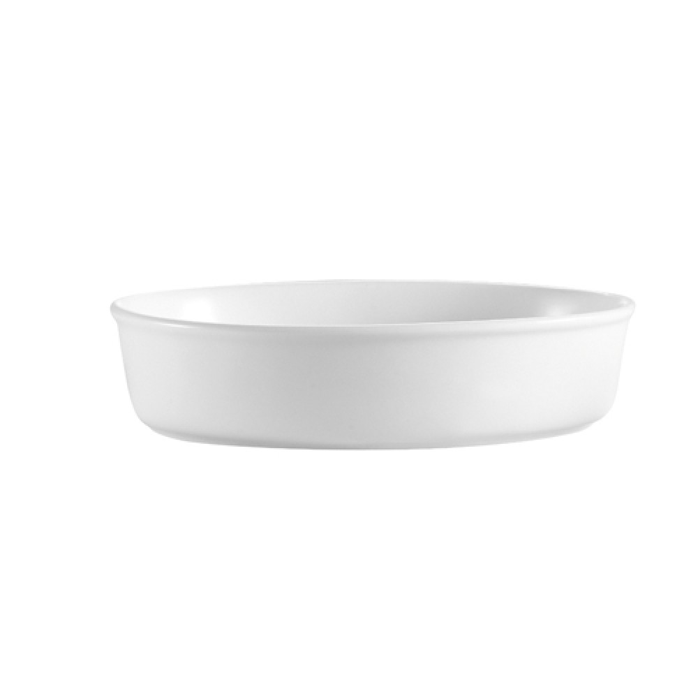 "CAC China ODP-4 White Oval 22 oz. Deep Platter, 7"" x 5-1/2"" x 2"""