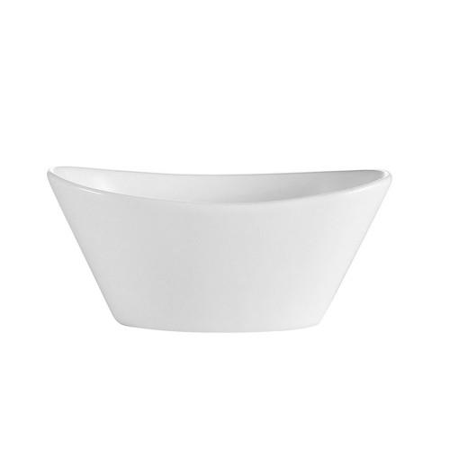 "CAC China F-OV6 Oval Fruit Bowl 6.5 oz., 5 1/2""x3 1/4""x2"""