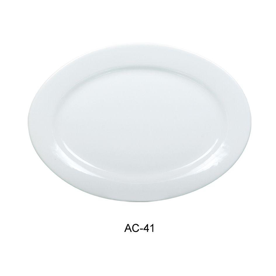 "Yanco AC-41 Abco Oval Platter13.75"""