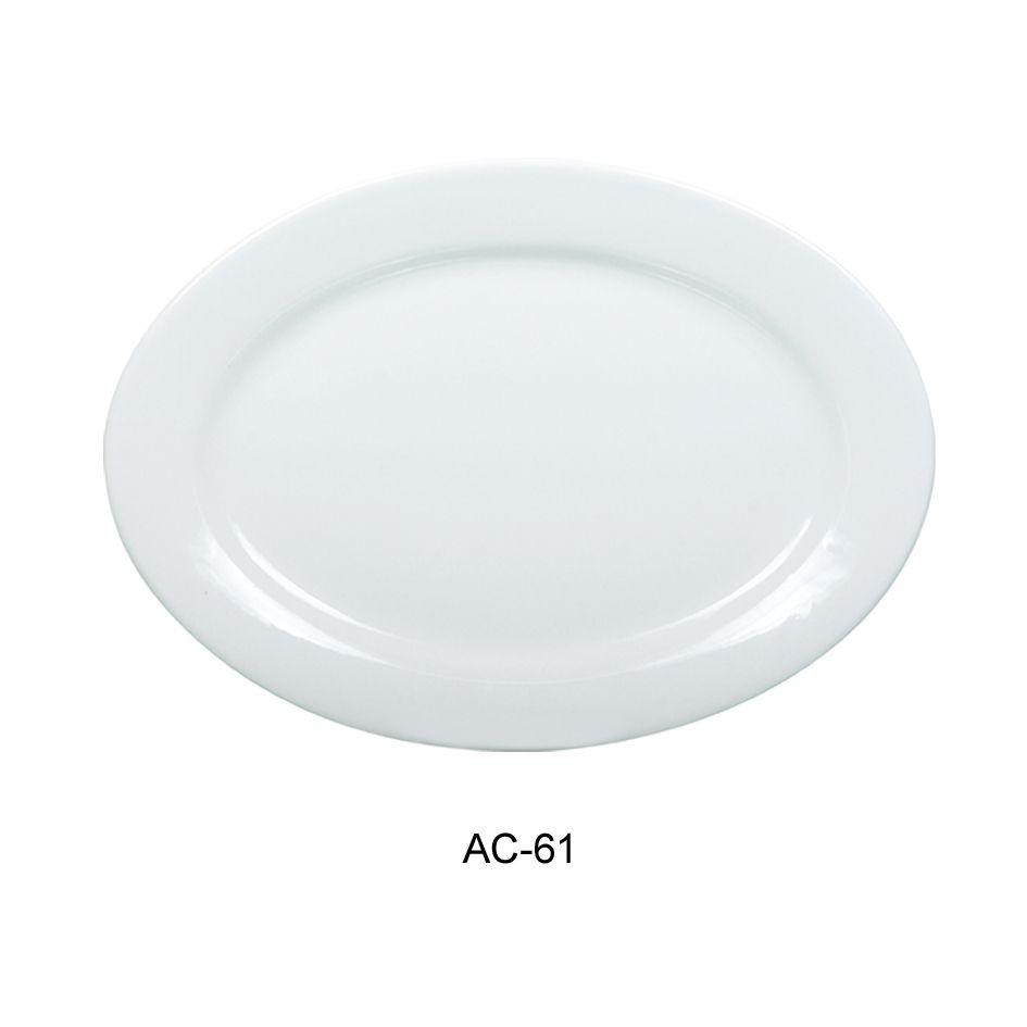 "Yanco AC-61 Abco Oval Platter 16"""