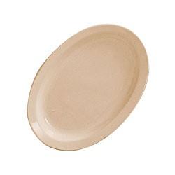 Oval Platter, Narrow Rim - Classic Tan Melamine (13