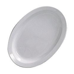 Oval Platter, Narrow Rim - Classic White Melamine (13.25