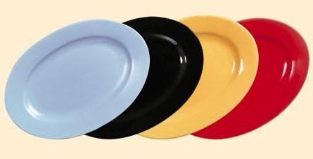 """CAC China FES-51BK Black Festiware Oval Platter, 15""""x 10 1/2"""""""