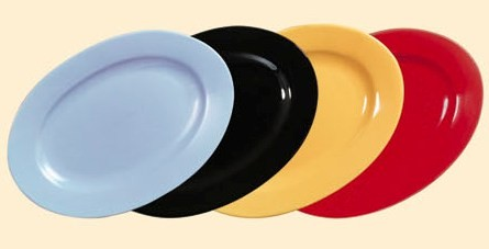 """CAC China FES-51YW Yellow Festiware Oval Platter, 15"""" x 10 1/2"""""""
