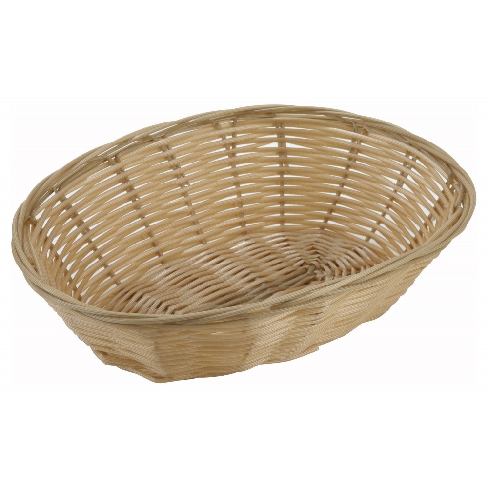 Oval Poly Natural Woven Basket