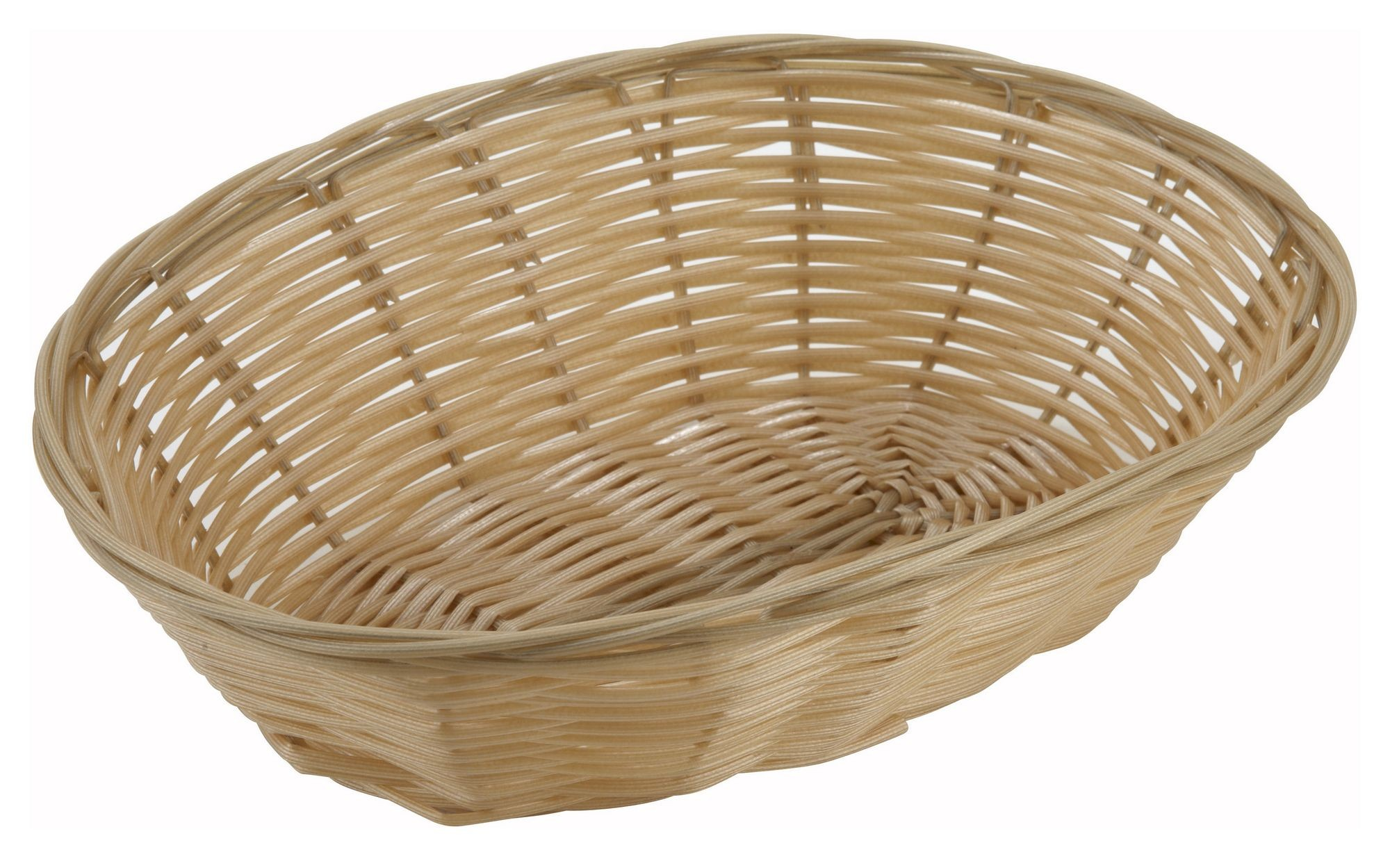 "Winco pwbn-9v Oval Natural Woven Basket 9-1/2"" x 6-1/2"" x 2-3/4"""
