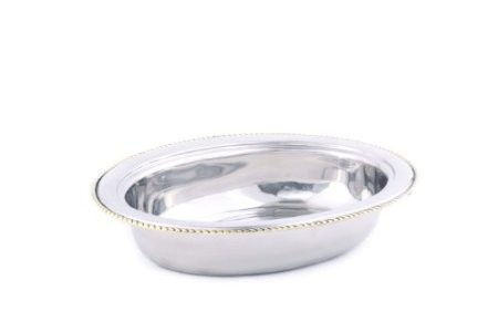 Old Dutch International FP8812 Oval Stainless Steel Food Pan for #841, 6 Qt.