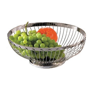 "TableCraft 6176 Oval Stainless Steel Regent Basket 11"" x 8-1/4"" x 3-1/2"""