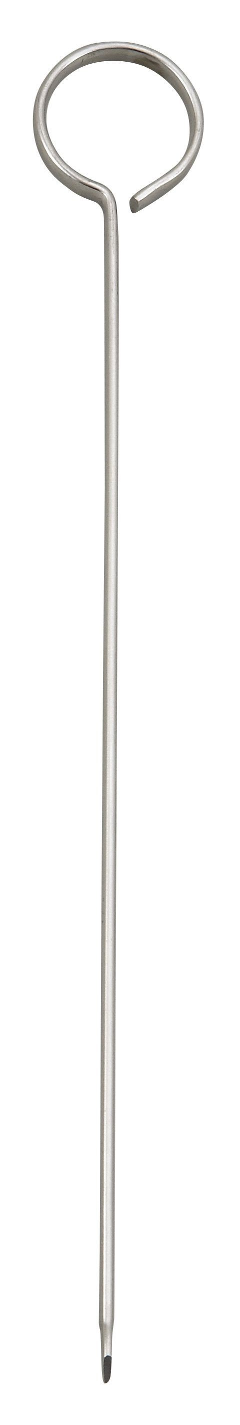 Winco SKO-8 Oval-Tipped Stainless Steel Skewer 8""