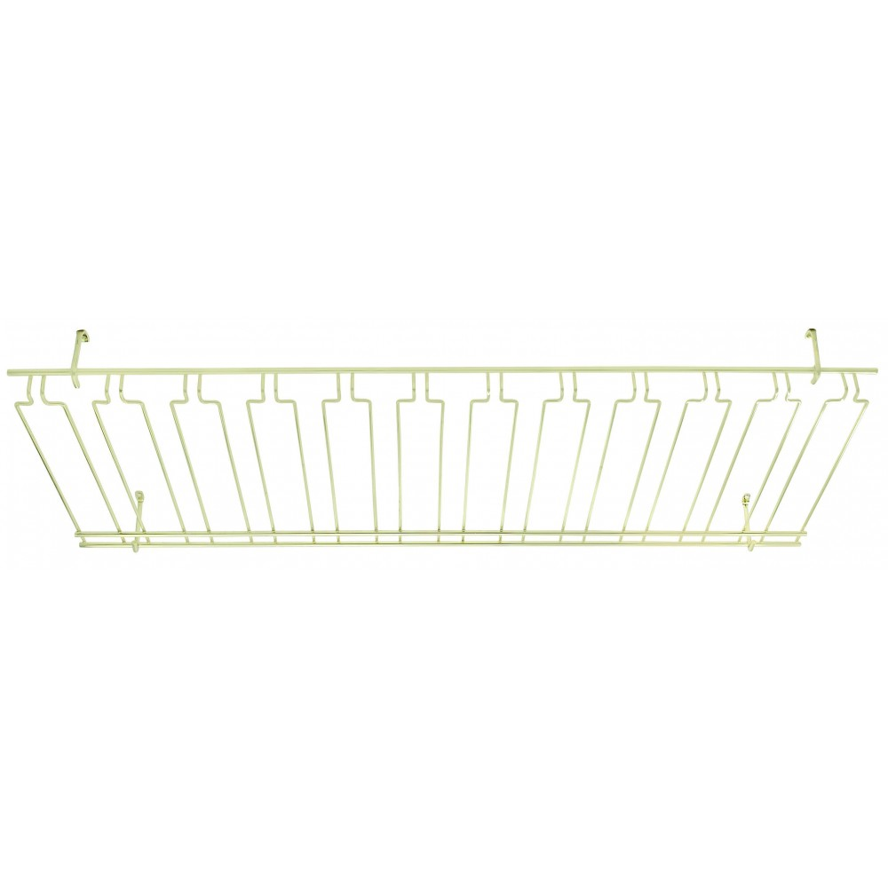 Overhead Glass Rack 18 X 48 X4 Brass Plated