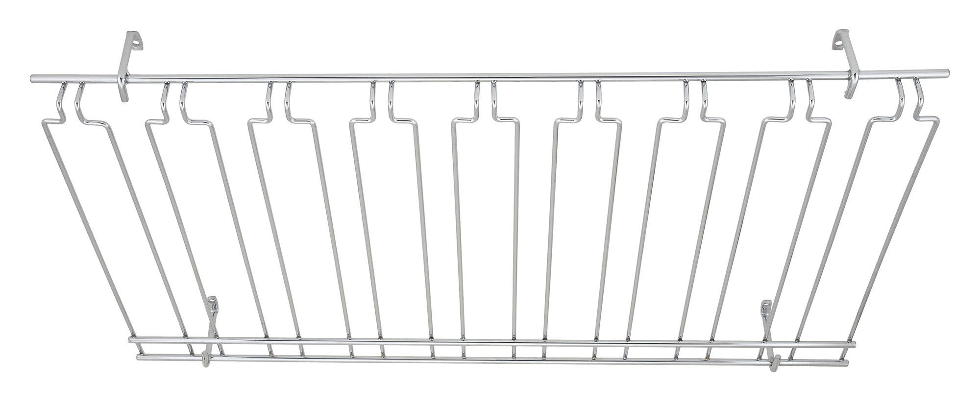 Overhead Glass Rack 18X36X4 Chrome Plated