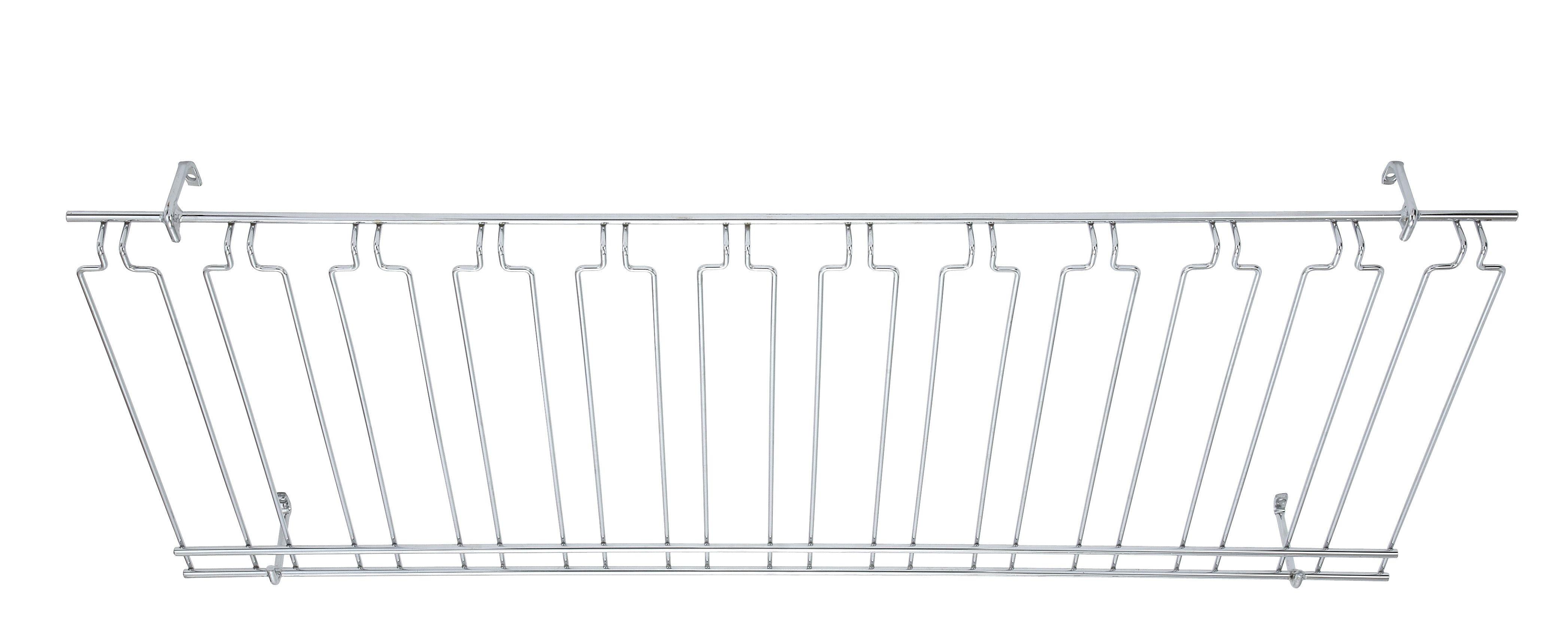 "Winco GHC-1848 Overhead Glass Rack 18"" x 48"" x 4"""