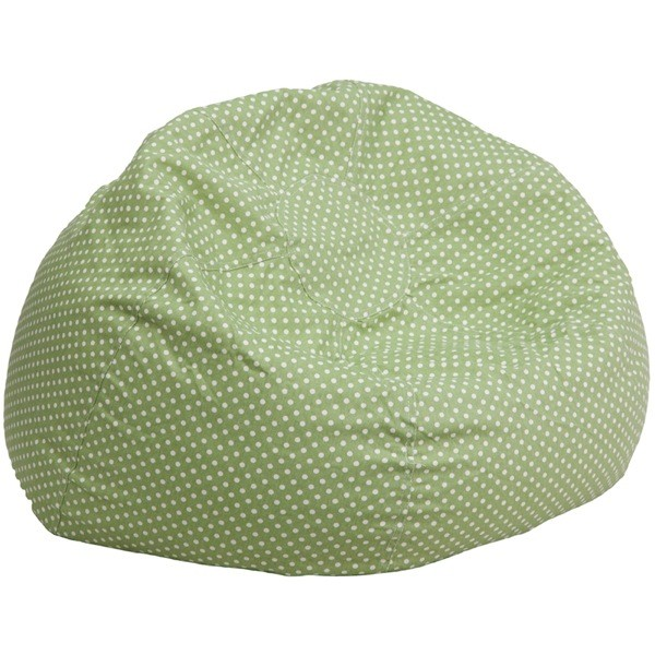 Flash Furniture DG-BEAN-LARGE-DOT-GRN-GG Oversized Green Dot Bean Bag Chair
