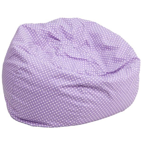 Flash Furniture DG-BEAN-LARGE-DOT-PUR-GG Oversized Lavender Dot Bean Bag Chair