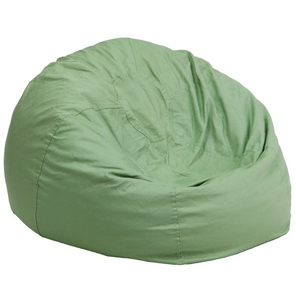 Flash Furniture DG-BEAN-LARGE-SOLID-GRN-GG Oversized Solid Green Bean Bag Chair