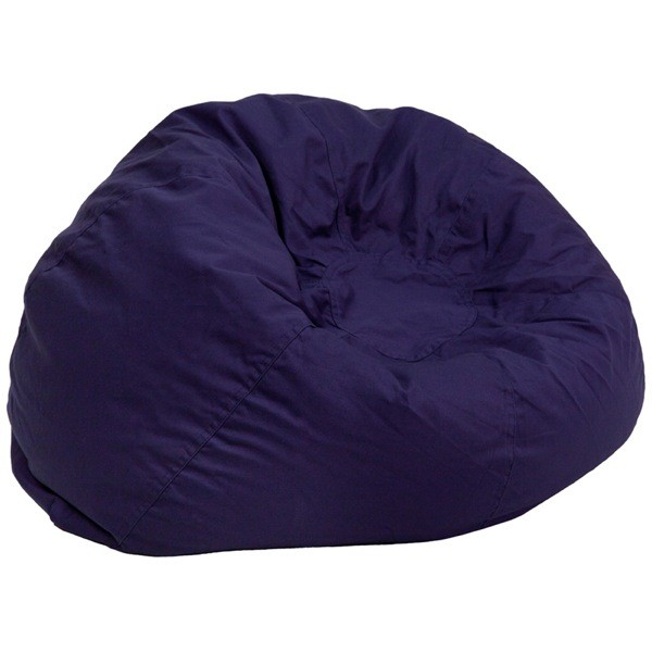Flash Furniture DG-BEAN-LARGE-SOLID-BL-GG Oversized Solid Navy Blue Bean Bag Chair