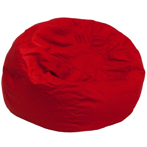Flash Furniture DG-BEAN-LARGE-SOLID-RED-GG Oversized Solid Red Bean Bag Chair